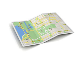 city map 3d illustration