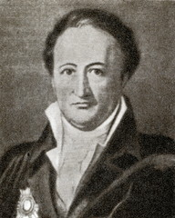 Johann Wolfgang von Goethe, German writer and politician.