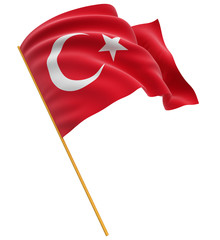 3D Turkish flag (clipping path included)