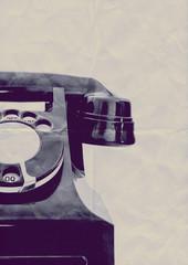 retro paper phone