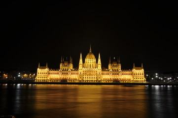 Amazing building of Parliament in Budapest