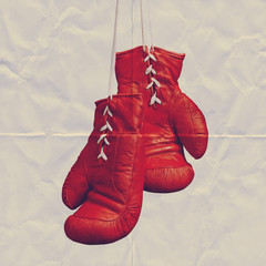 boxing gloves paper