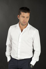 men in white shirts
