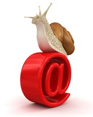 Snail and e-mail (clipping path included)