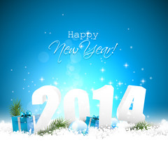 Happy new Year 2014 -  greeting card
