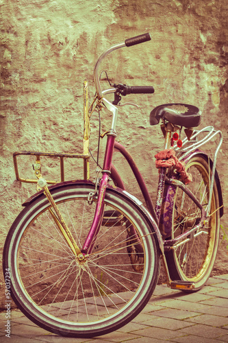 Retro styled image of a colorful bicycle - 57037234