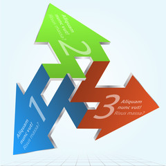 Vector Impossible Figure Arrows Infographic Element Icon Sign.
