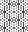 3D Cubes and Crosses Shape Abstract Vector Seamless Pattern.