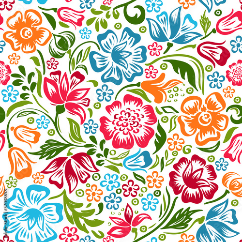 Vector floral colorful pattern
