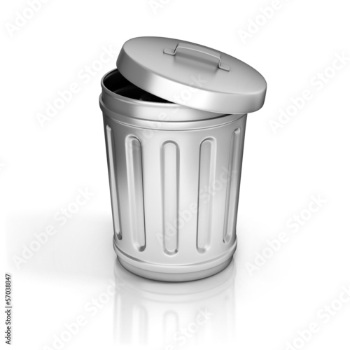 open trash can