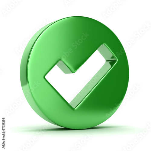 Check mark 3d icon