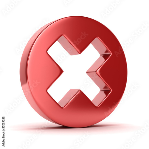 cross mark 3d icon