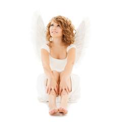 happy teenage angel girl