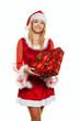 Weihnachtsmann  mit Geschenken.