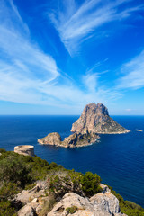 Ibiza Es Vedra view from Torre des Savinar Tower