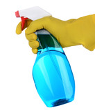 Hand Holding a Spray Bottle of Cleanser