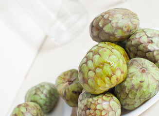 cherimoya on  saucer
