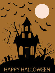 Halloween hunted house wallpaper
