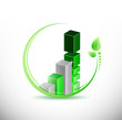 eco green business leave graph illustration