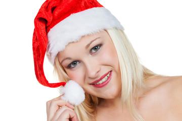 weiblicher Weihnachtsmann