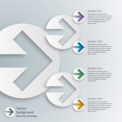 Infographics Vector Background Arrow