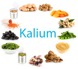 Products containing kalium
