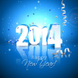 Happy new Year- blue greeting card
