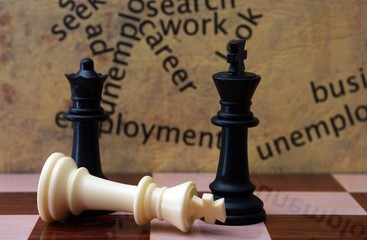 Chess and employment concept