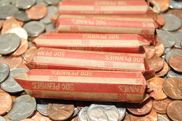 Rolled American Penny Coinage