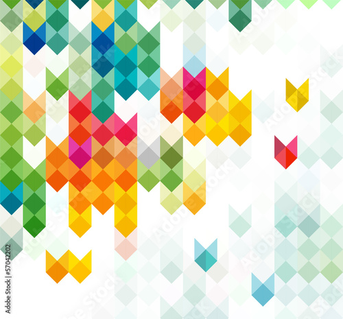 abstract motion & geometric background with arrows