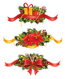 Set of christmas banners.