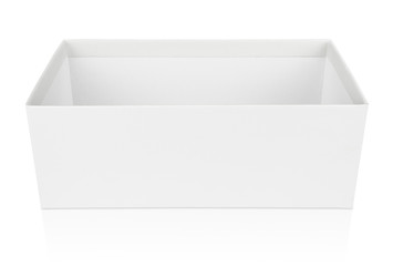 Open shoe box isolated on white with clipping path