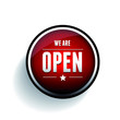 We are open sign button