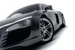 canvas print picture - Black Sports Car