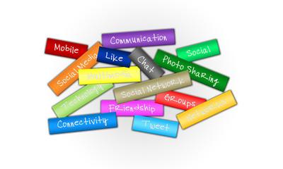 Social media and social networks concept