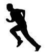 Sport Silhouette - Cricket Bowler Run-Up