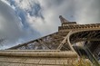 Wide angle gorgeous view of Eiffel Tower Metal Structure - Paris