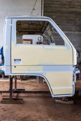 Preparing the body of a car for a repair job