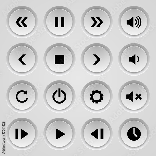 Set of buttons.