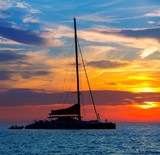 Ibiza san Antonio Abad catamaran sailboat sunset