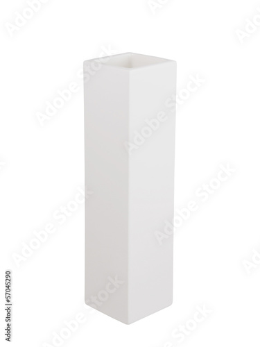 White vase isolated