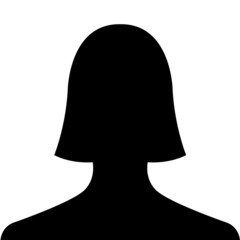 Woman silhouette profile picture