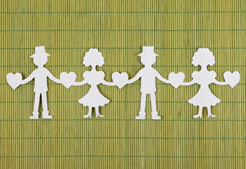 Paper people in social network concept