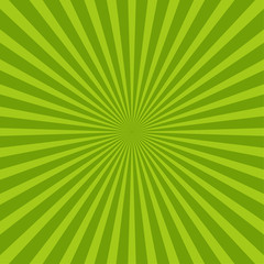 Colorful green ray sunburst style - abstract backgray background