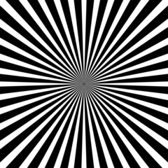 Black and white ray sunburst style - abstract background
