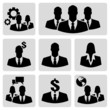 Collection of business people icons