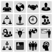 Business silhouette icon set