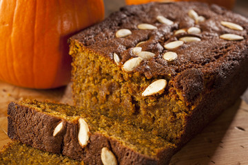 Organic Homemade Pumpkin Bread