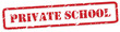 Private School Rubber Stamp Vector