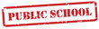 Public School Rubber Stamp Vector